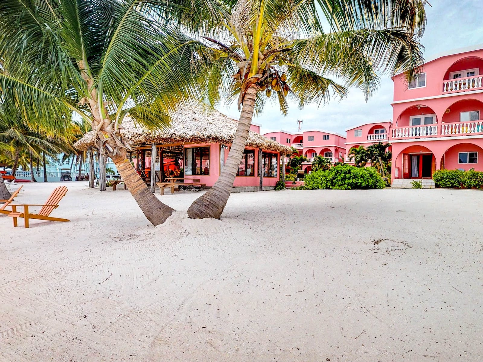 Pink Belize oceanfront vacation rental
