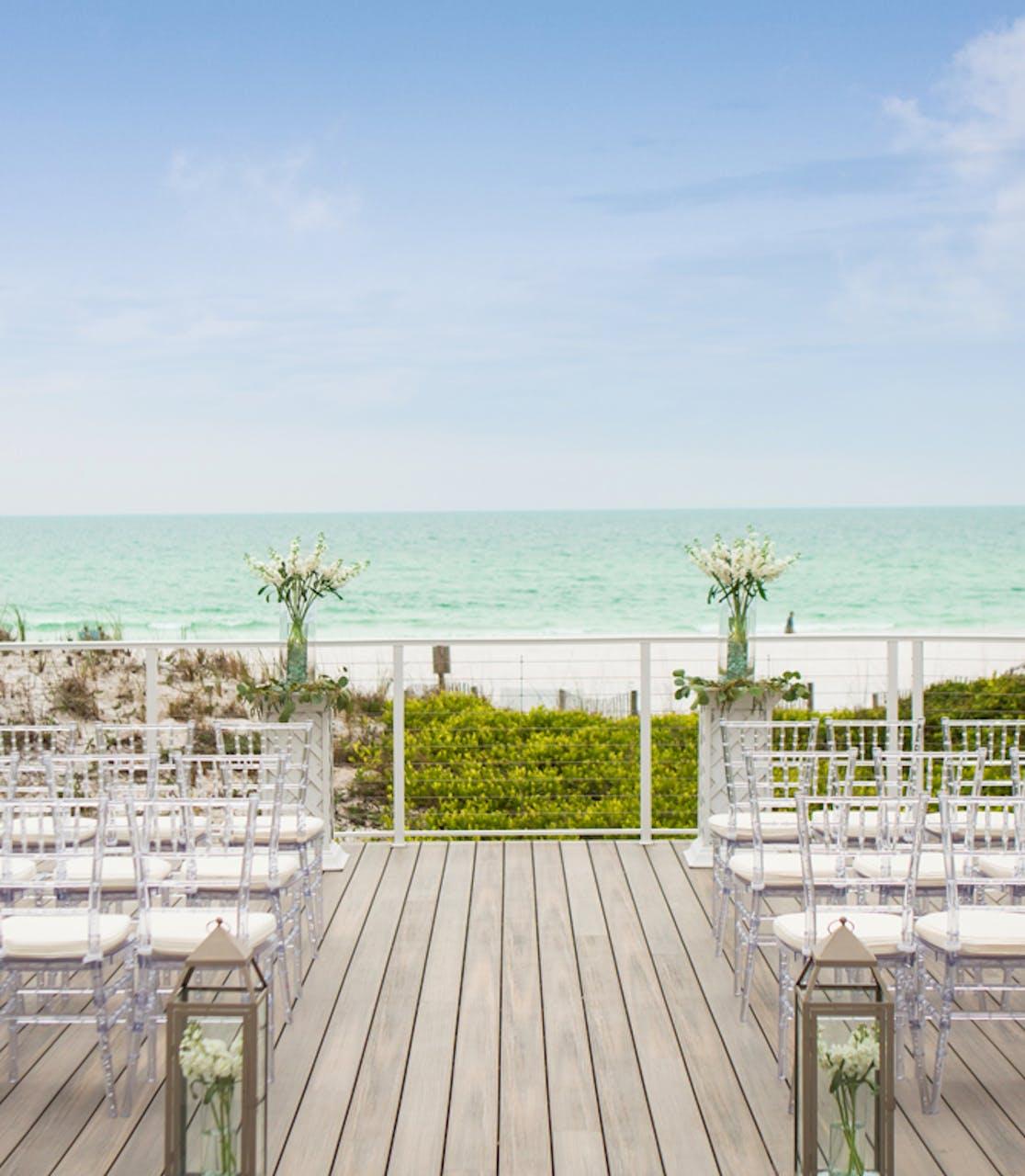 Outdoor Weddings at TOPS'L Beach & Racquet Resort - Blue Dunes Deck Ceremony