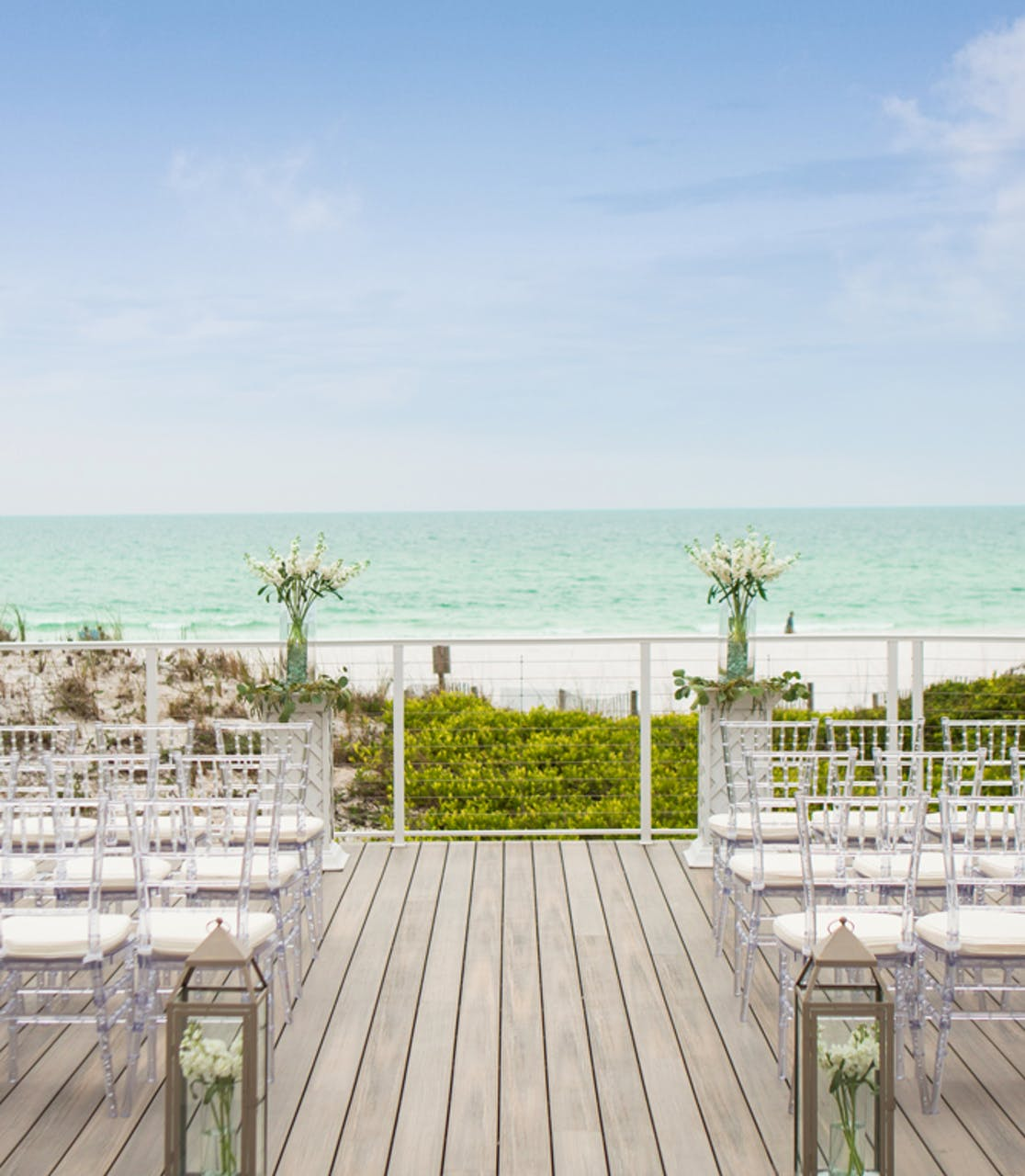 Outdoor Weddings at TOPS'L Beach & Racquet Resort - Blue Dunes Deck Ceremony