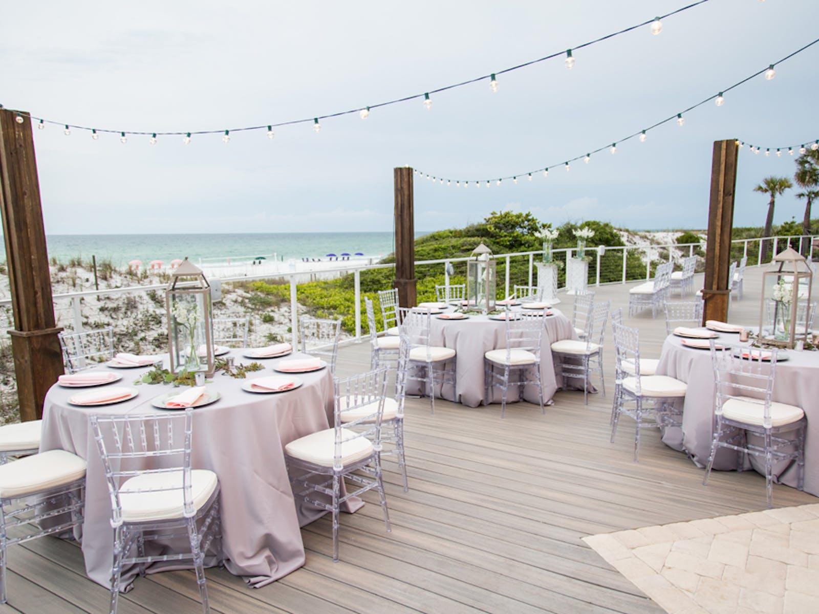 Weddings at TOPS'L Beach & Racquet Resort - Blue Dunes Deck Reception