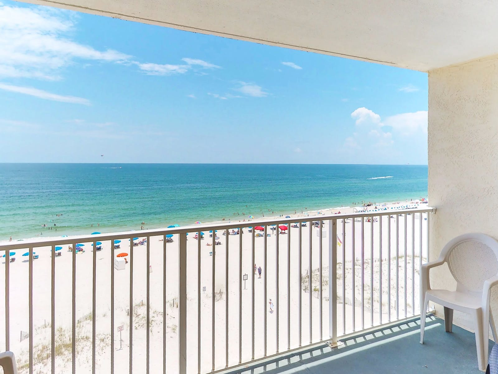 View of beach from Gulf Shores, AL vacation rental