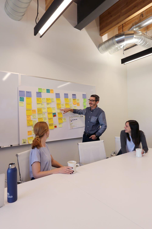 vacasa employees having a team meeting