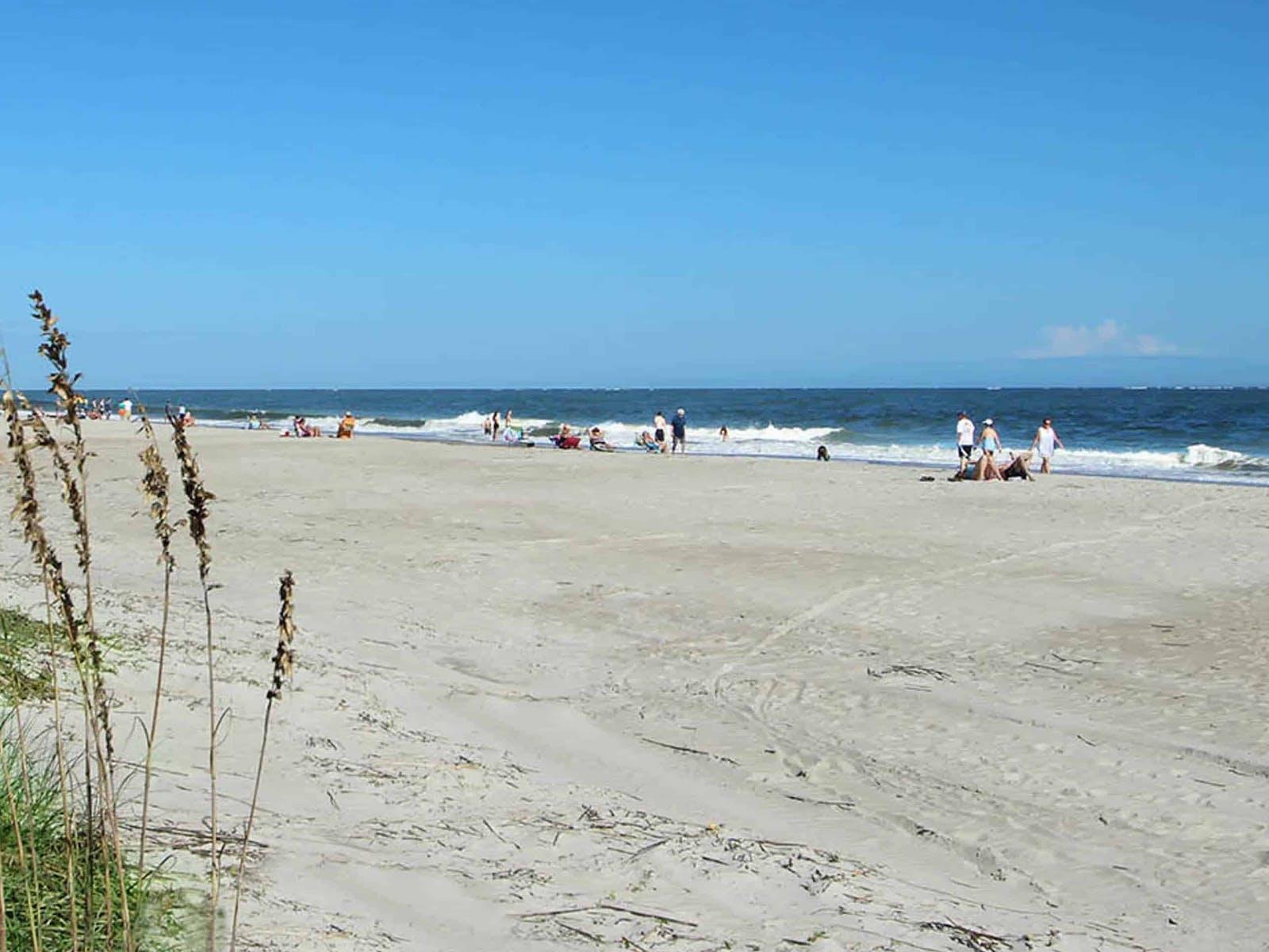 Beachgoers enjoying the beach on Hilton Head Island