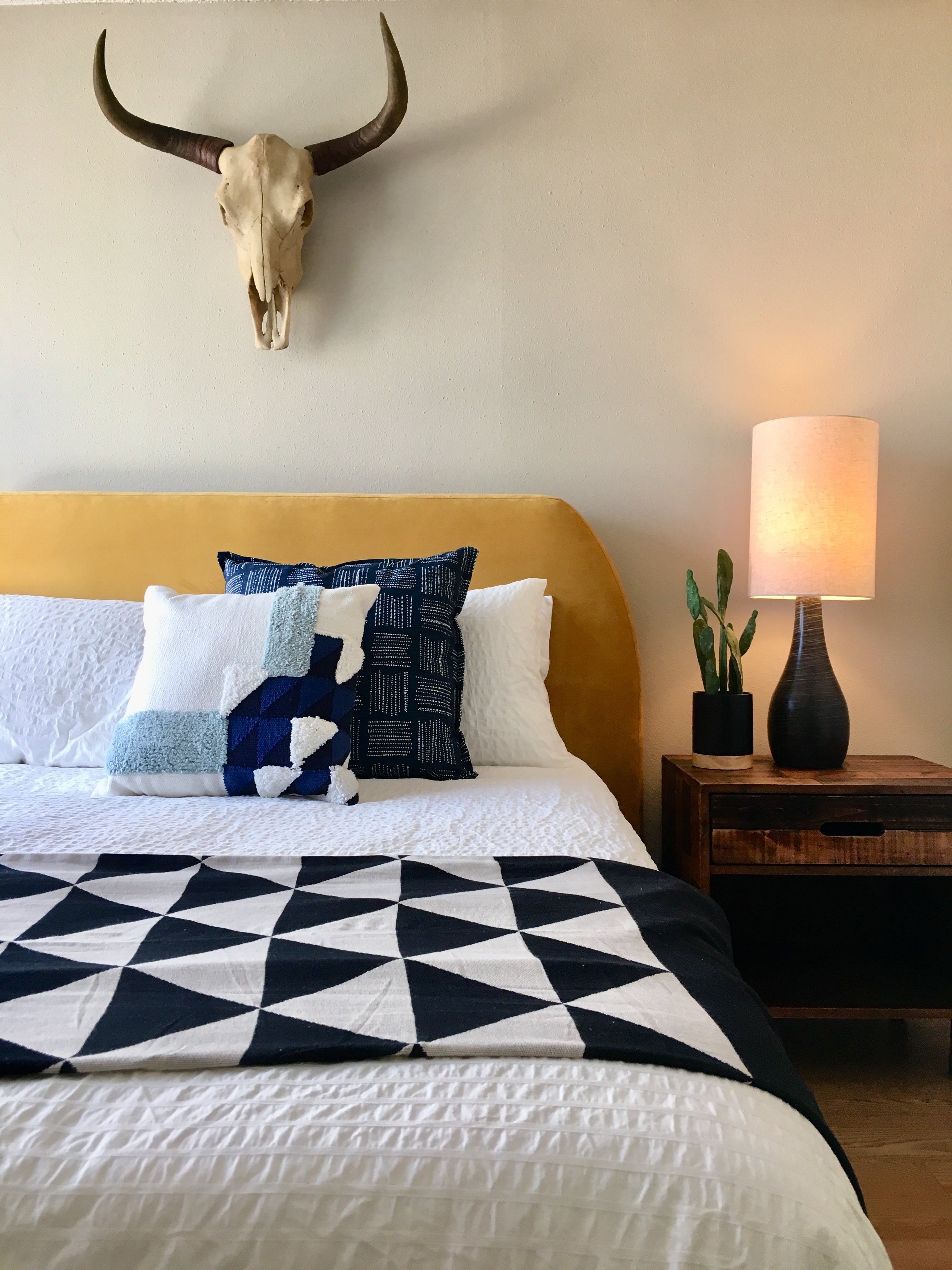 vacation rental bedroom with modern decor