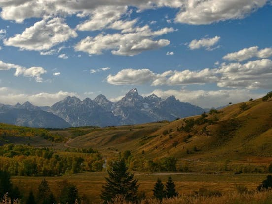 beautiful mountain view of jackson hole, wy