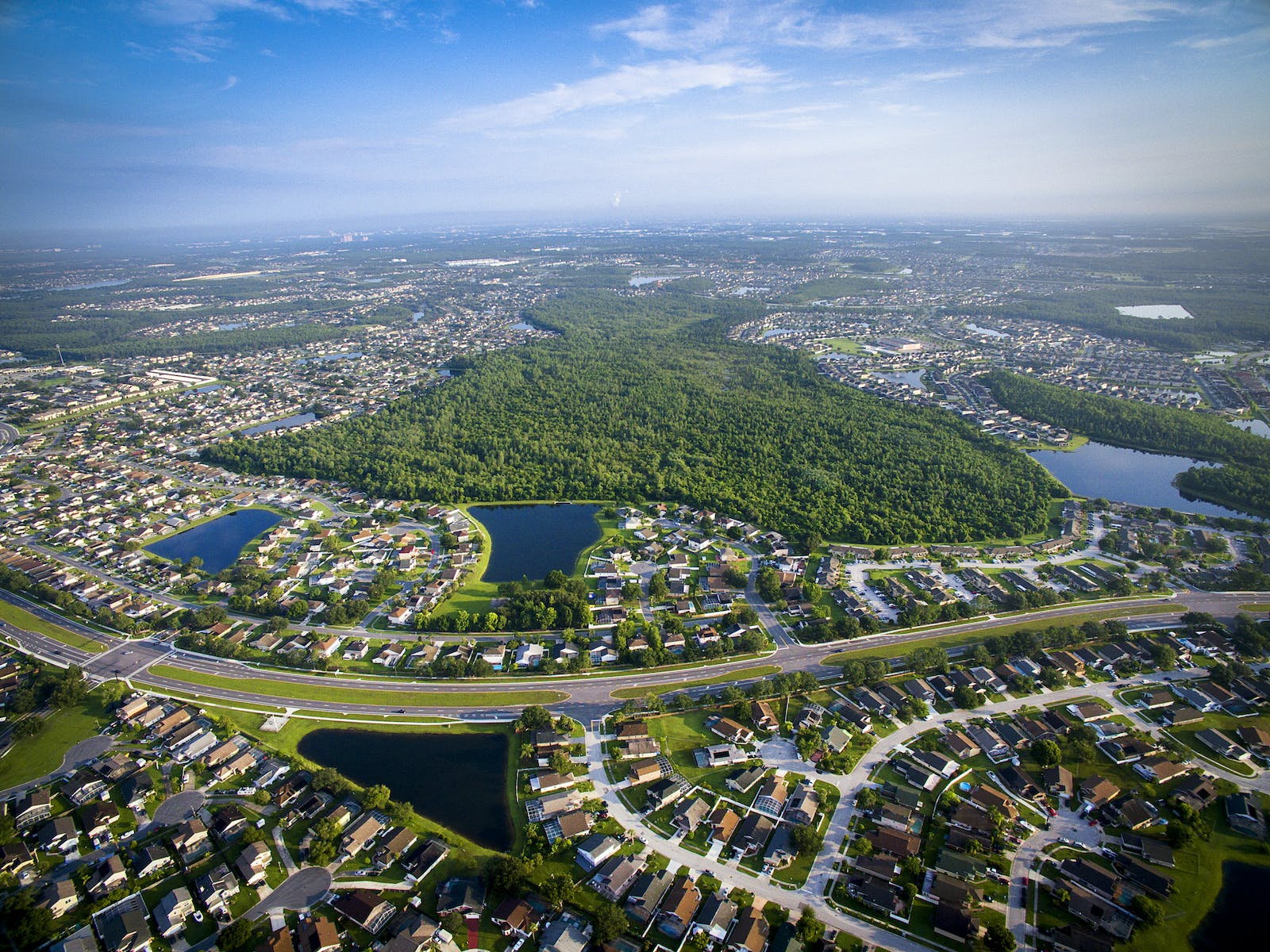Aerial view of Kissimmee, FL
