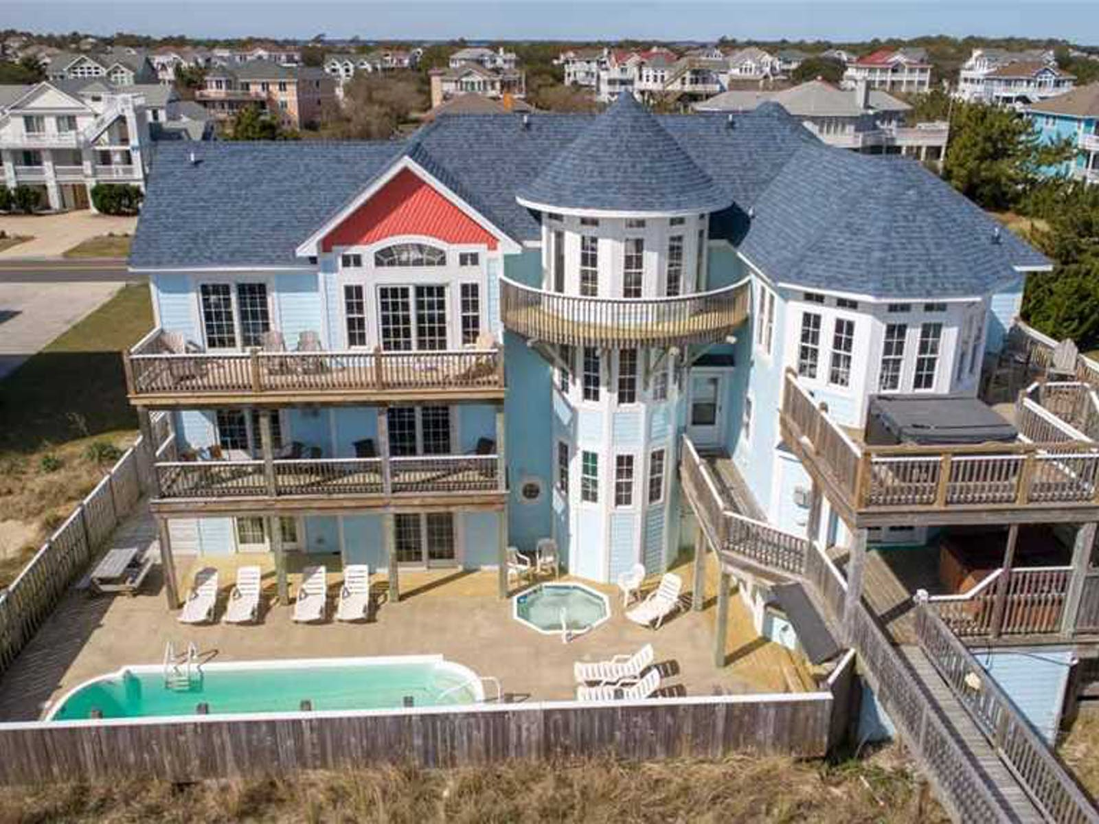 large beach vacation home in Corolla, NC