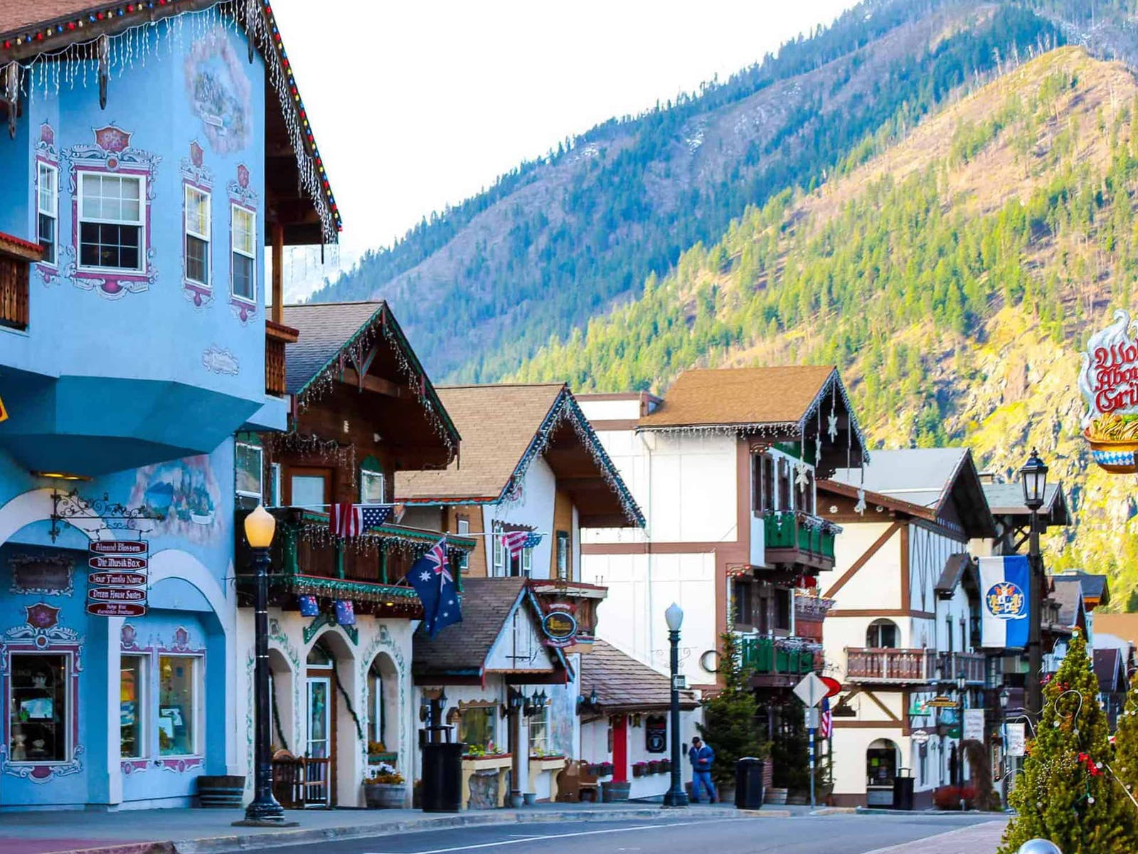 Bavarian-style buildings in Leavenworth, WA
