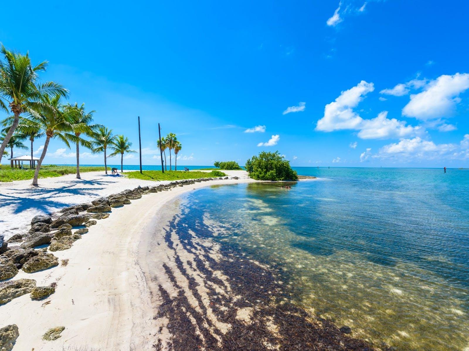 Beautiful beach in Marathon, FL