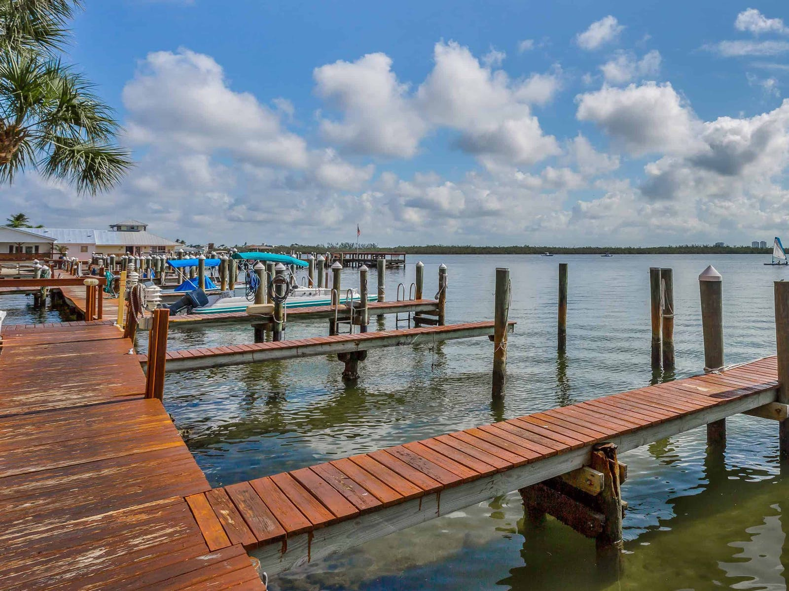 boats at the dock in marco island, florida
