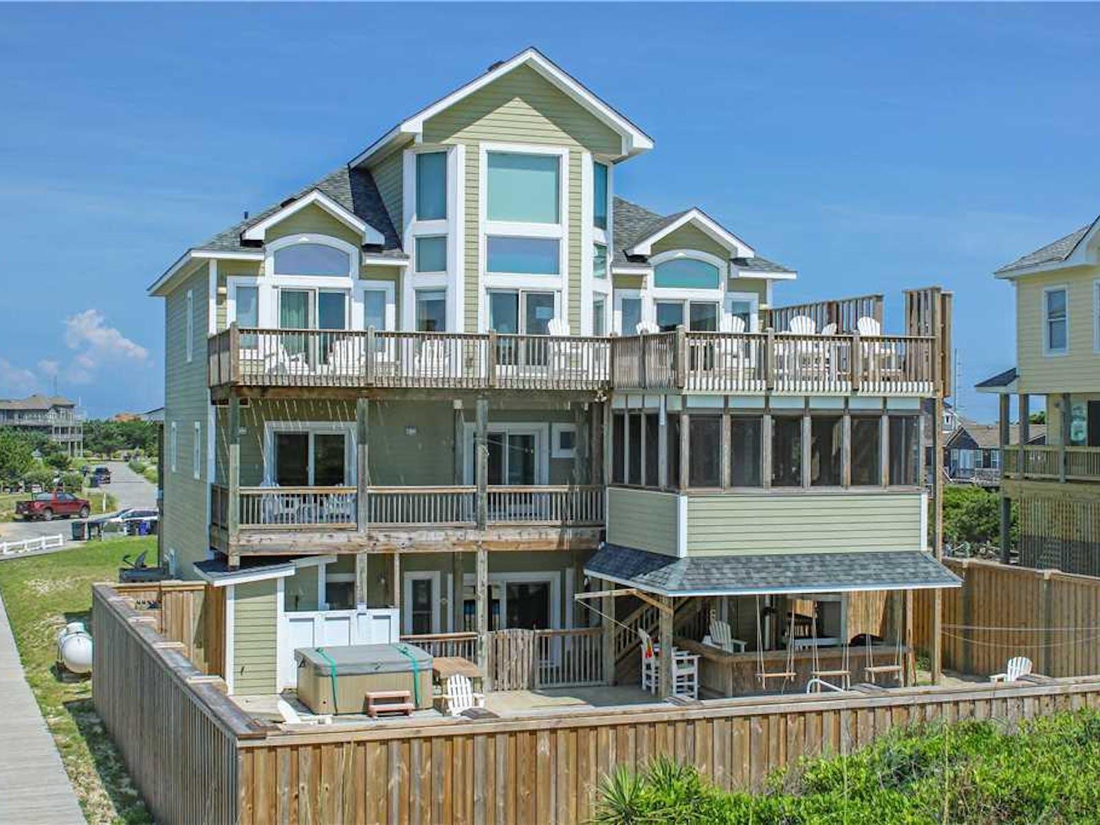 Beach house on Hatteras Island