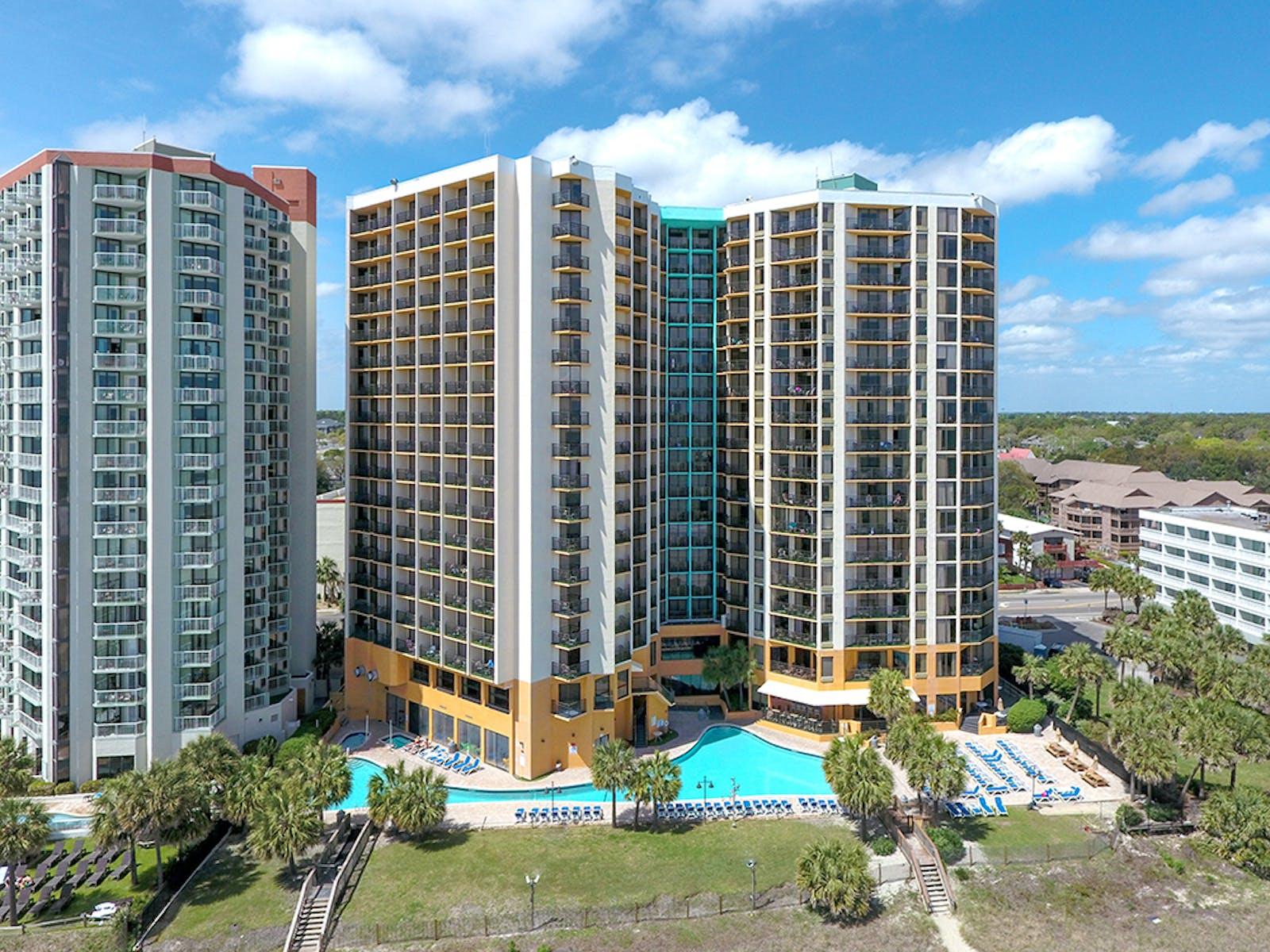 Patrica Grand resort buildings in Myrtle Beach