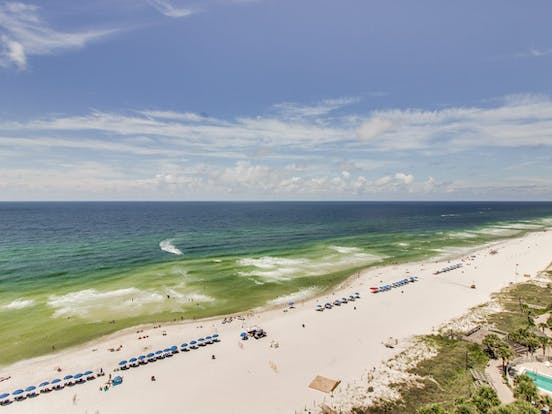 Aerial view of Panama City Beach FL