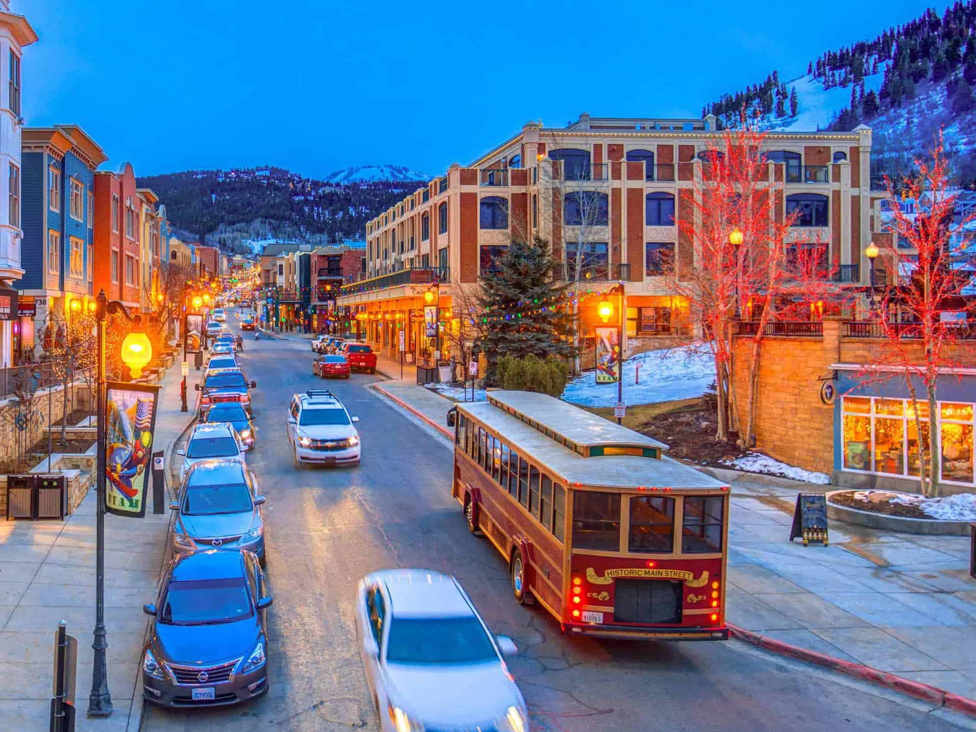 old town park city in the winter