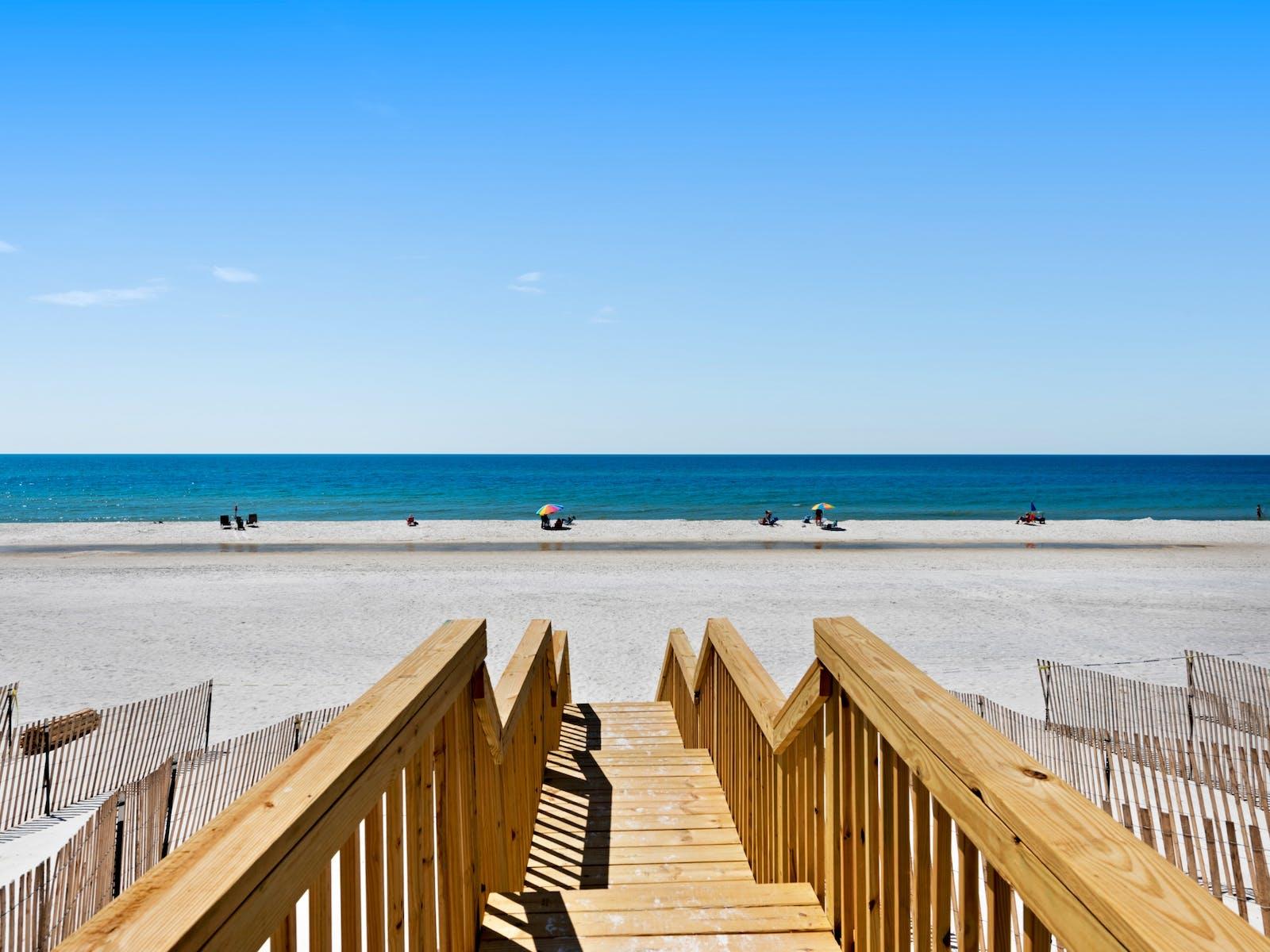 view of beach from Port St. Joe, fl