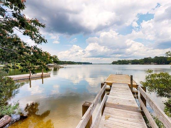 dock over river in South Carolina