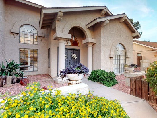 Scottsdale, AZ vacation home with desert landscaping