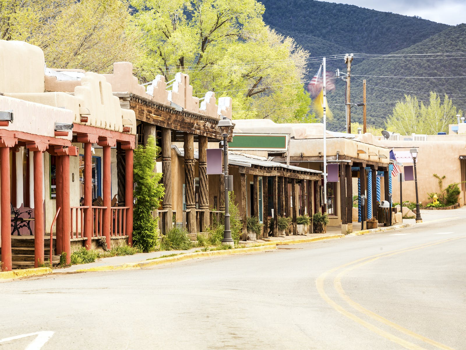 Storefronts in Taos, NM