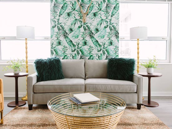 a modern living room designed by an interior designer