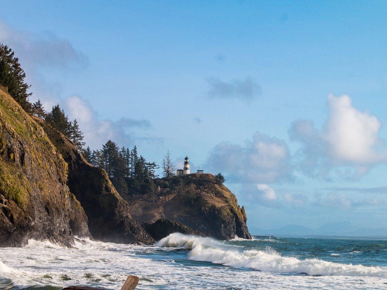 rocky coastline of Washington state
