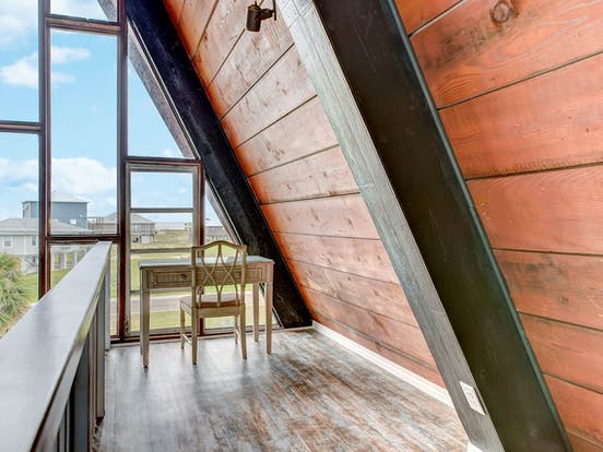 Interior of Dauphin Island a-frame rental