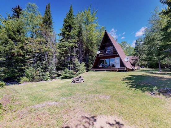 Lakeside a-frame cabin rental located in Lily Bay Township, Maine