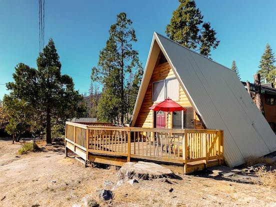 Cozy mountain a-frame cabin rental in Shaver Lake, CA