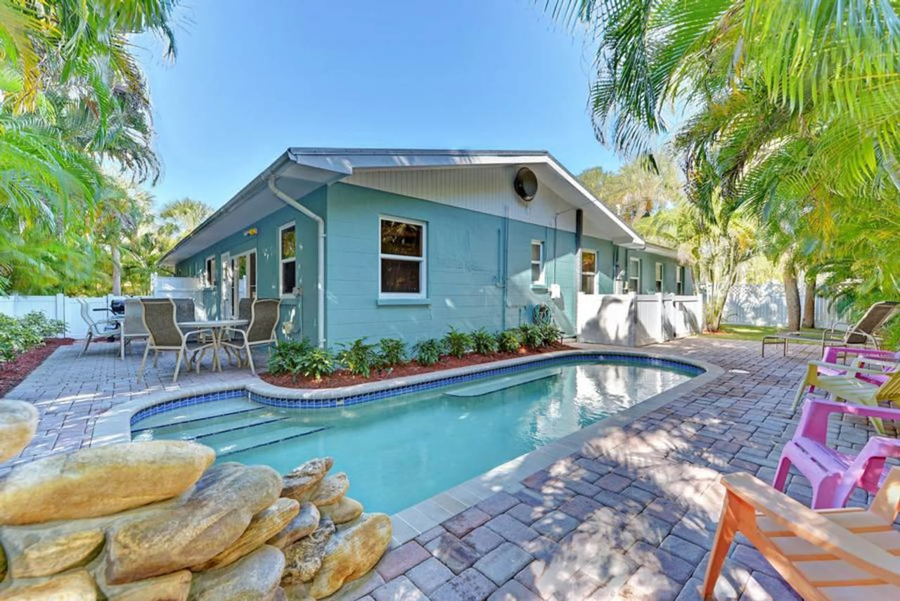the pool of Blue Heron Beach House in Anna Maria
