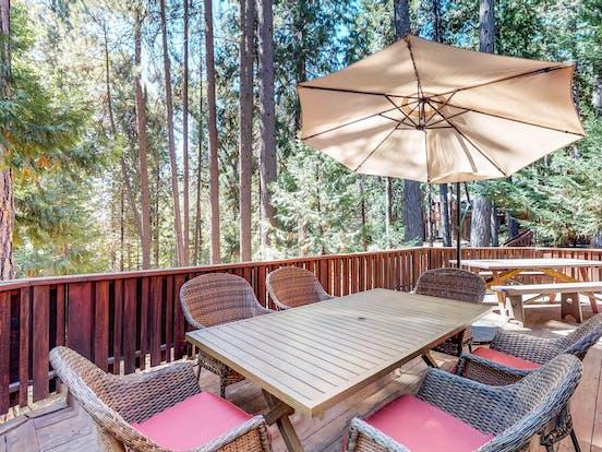 Arnold vacation rental balcony overlooking woods