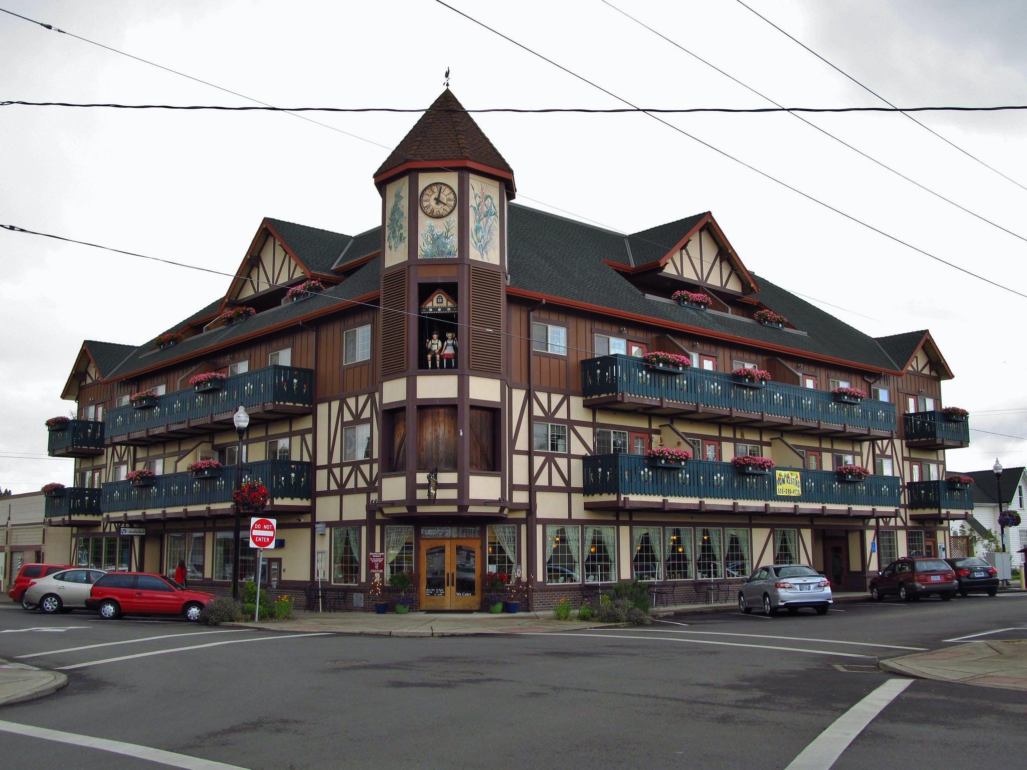 The Glockenspiel restaurant in Mount Angel, Oregon