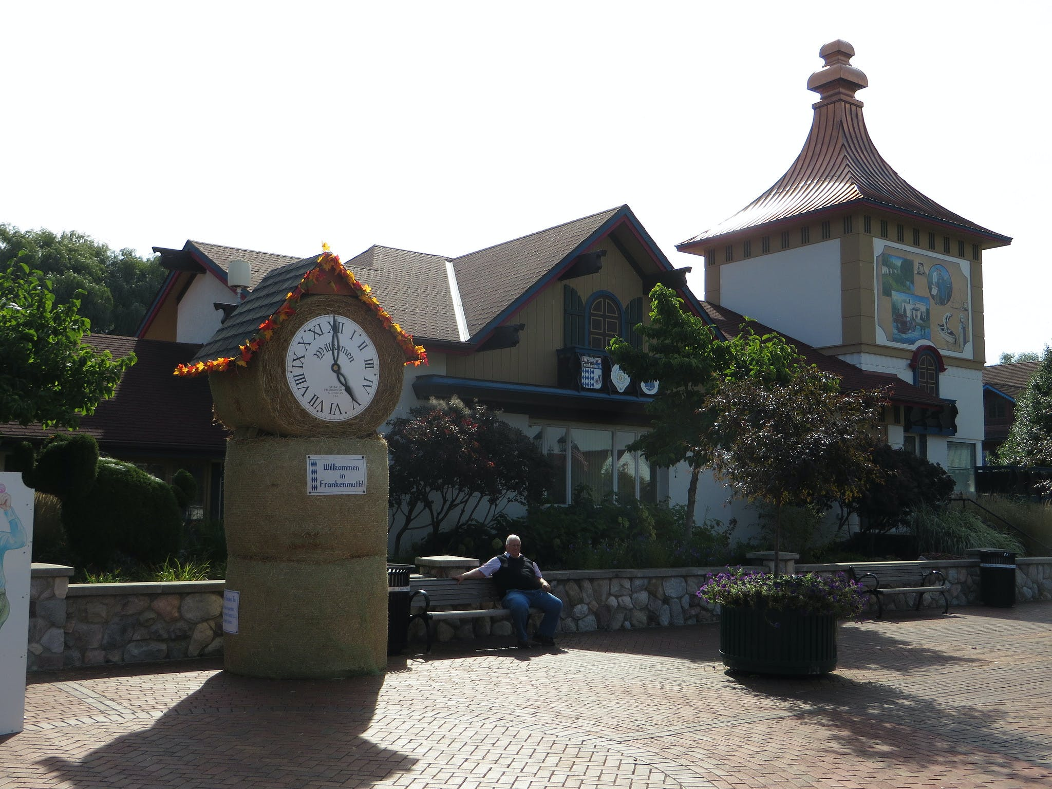 the clock towner in downtown Frankenmuth, Michigan