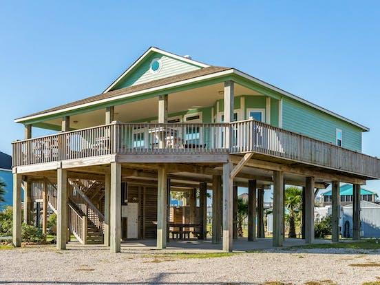 Beach vacation rental in Crystal Beach, Texas