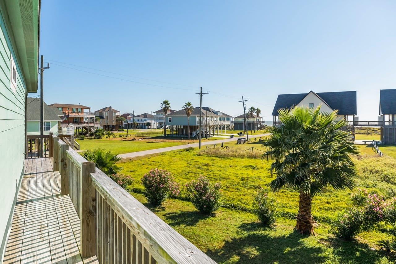 View of Crystal Beach, TX beach homes
