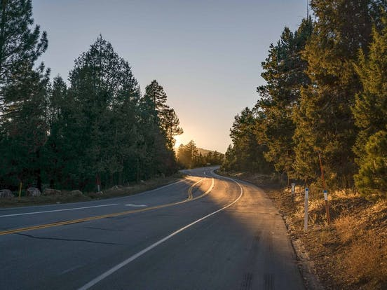Winding road in Big Bear