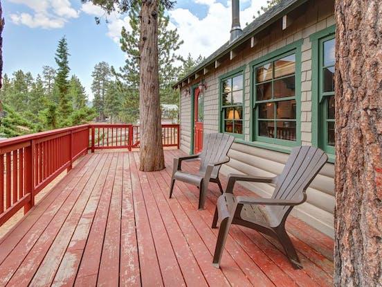 Large patio with Big Bear Lake views