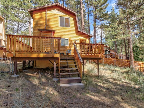 Back deck of Big Bear Lake, CA vacation rental