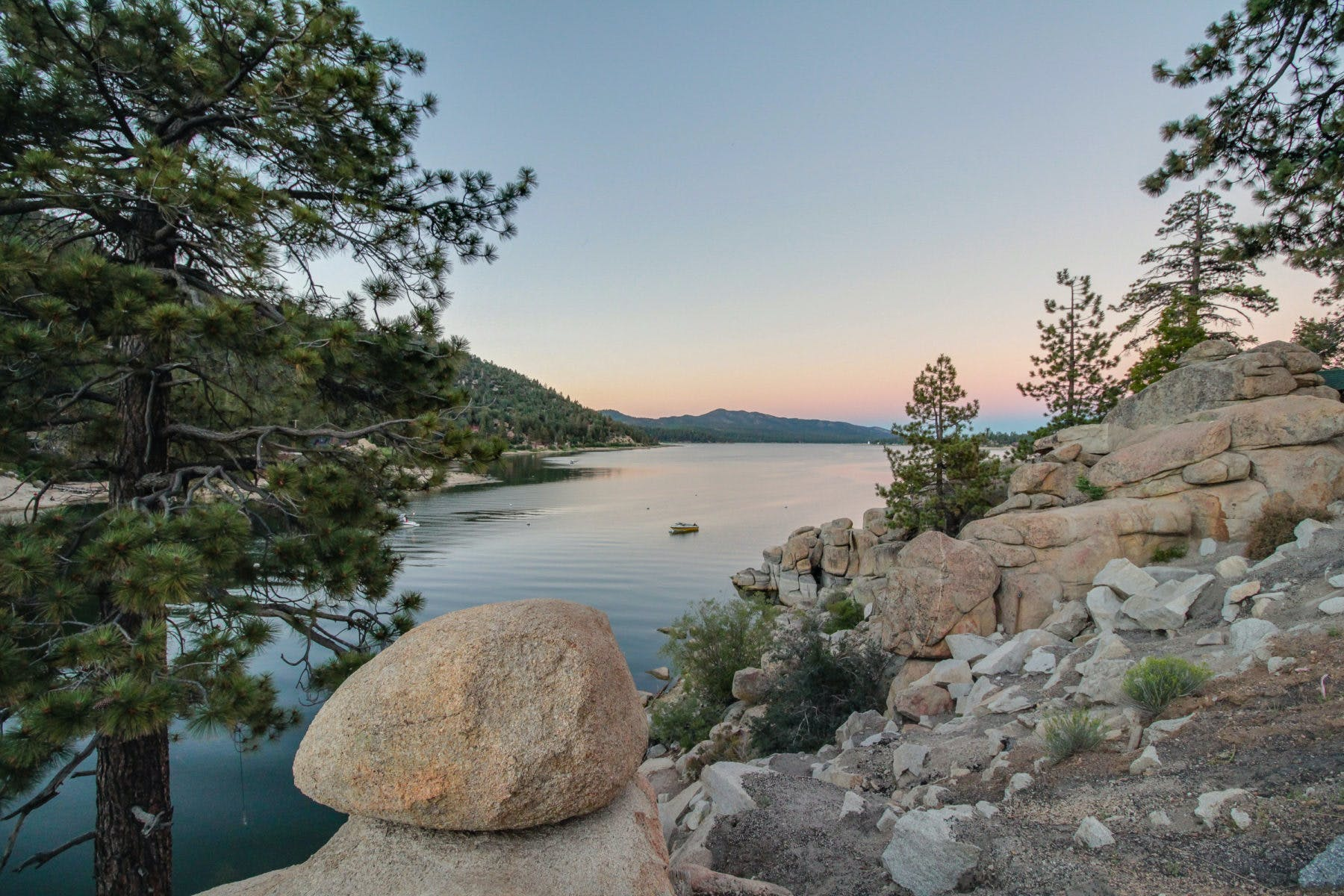 lake views from a trail in big bear