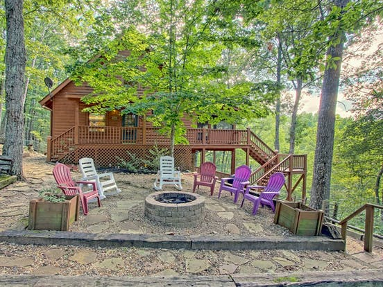 Blue Ridge Mountains vacation rental with incredible views from outdoor firepit