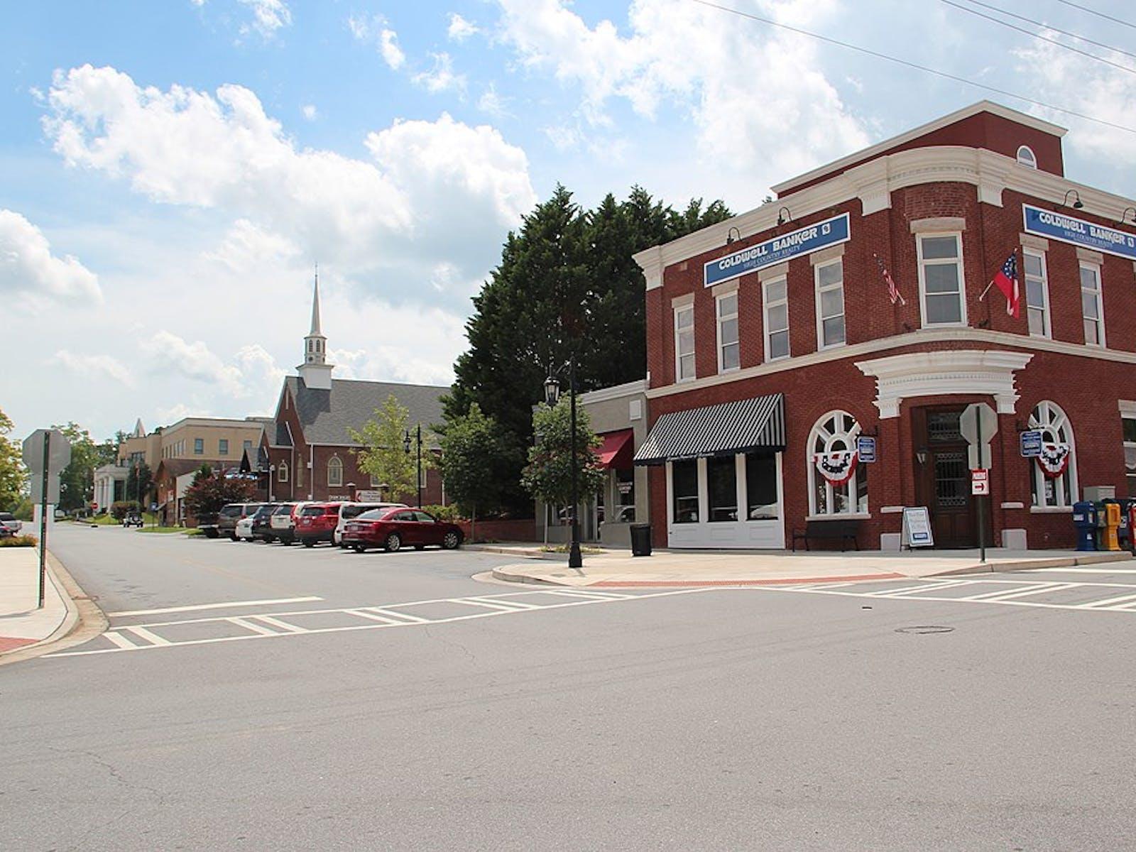 downtown Blue Ridge, GA