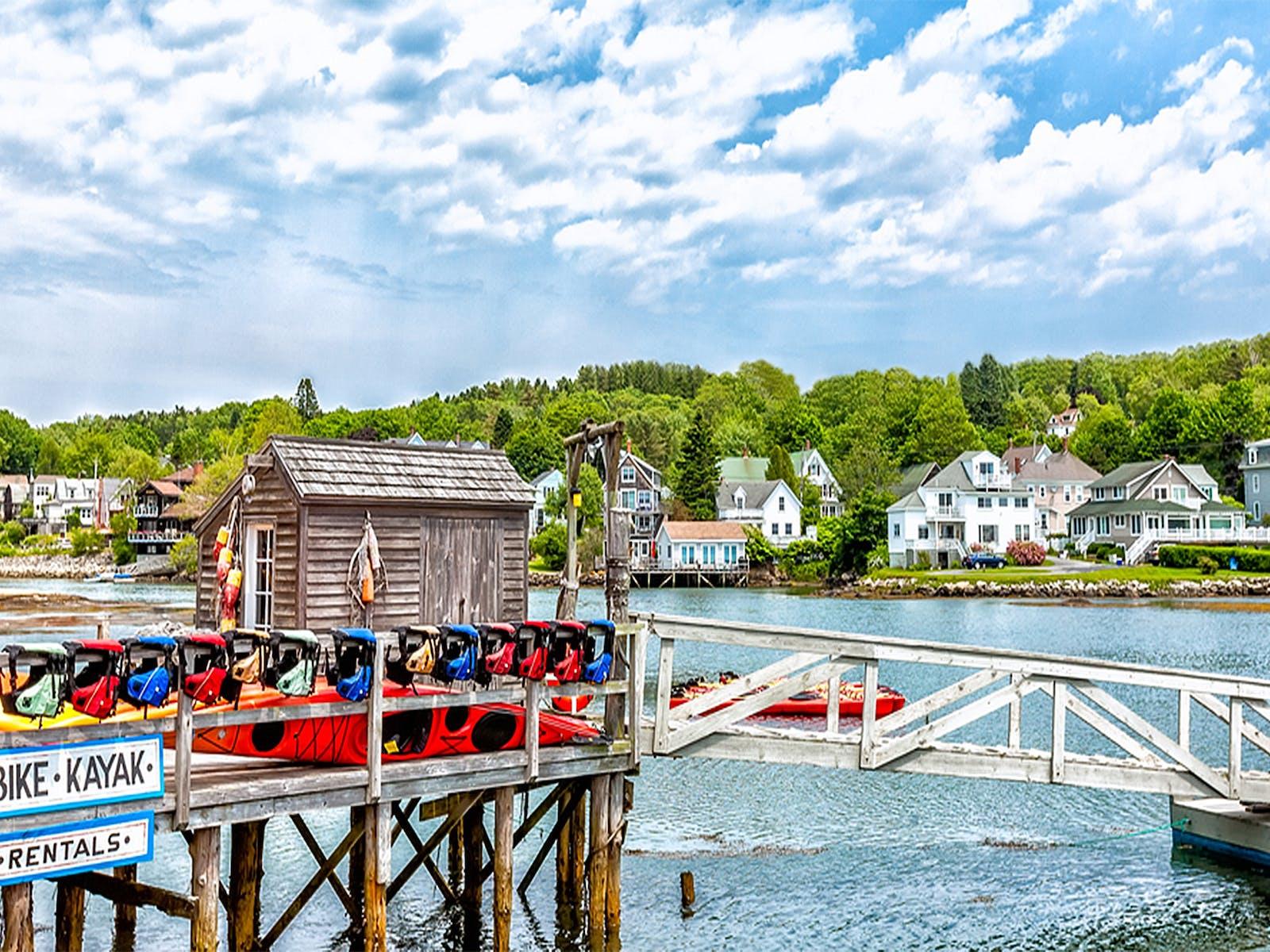 Kayak and bike rentals in Boothbay Harbor, Maine