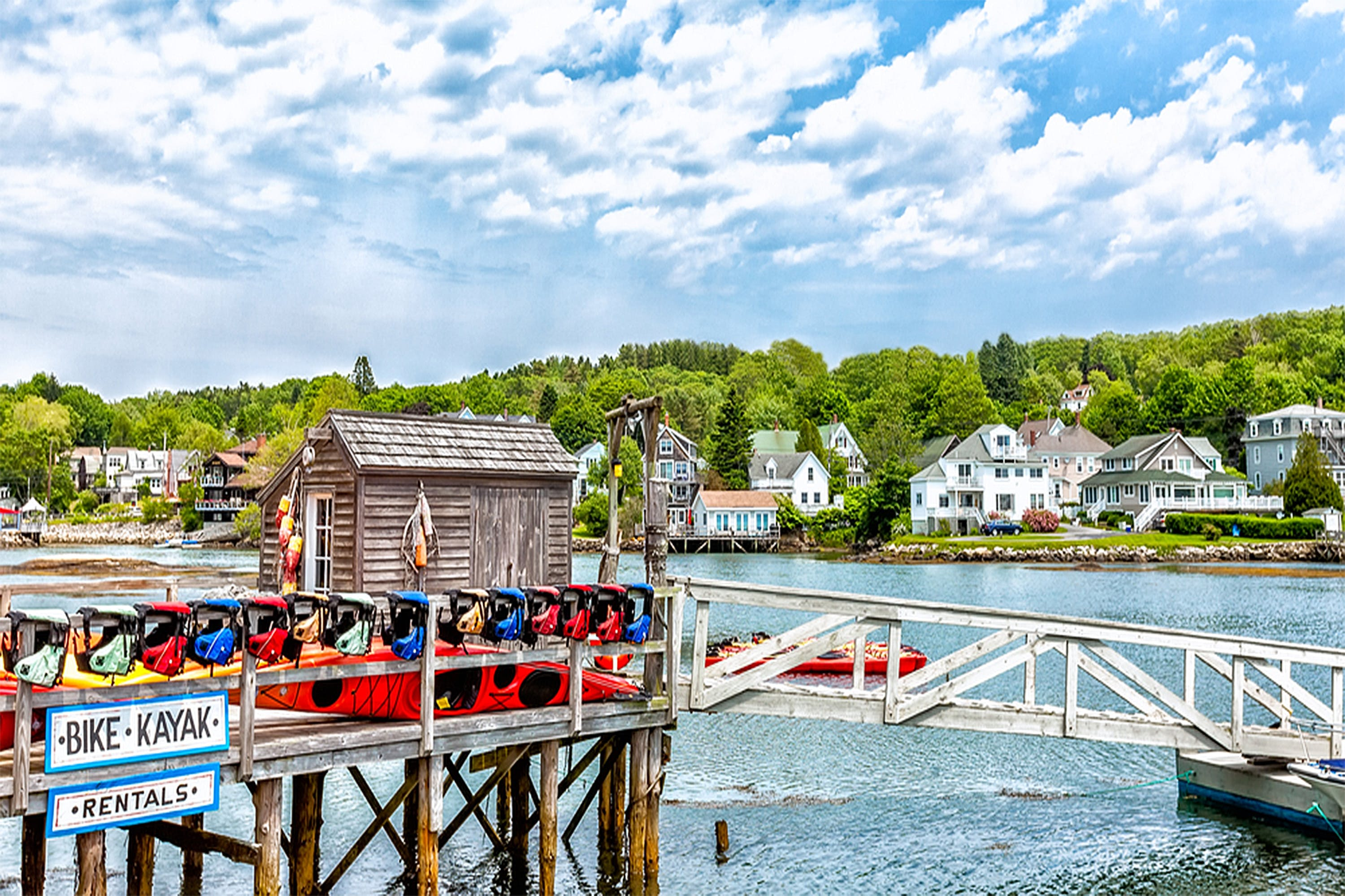 Kayak and bike rentals in Boothbay Harbor, Maine