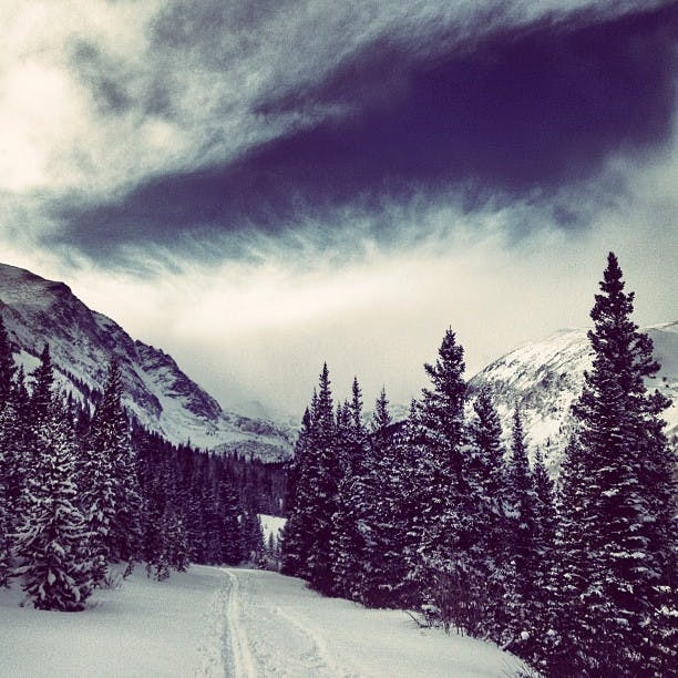 McCullough Gulch hike in the snow