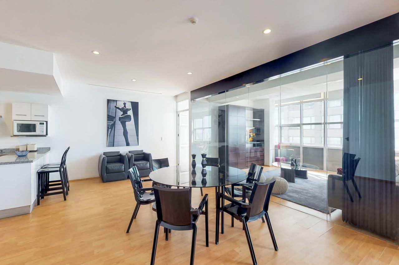 interior of Mexico City apartment rental
