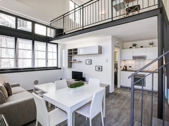 two story apartment rental located in Milan