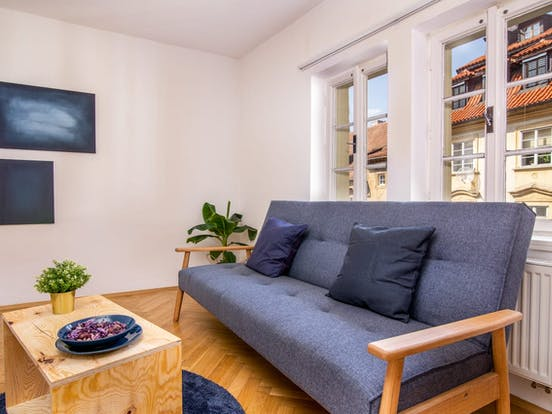 interior of Prague vacation rental