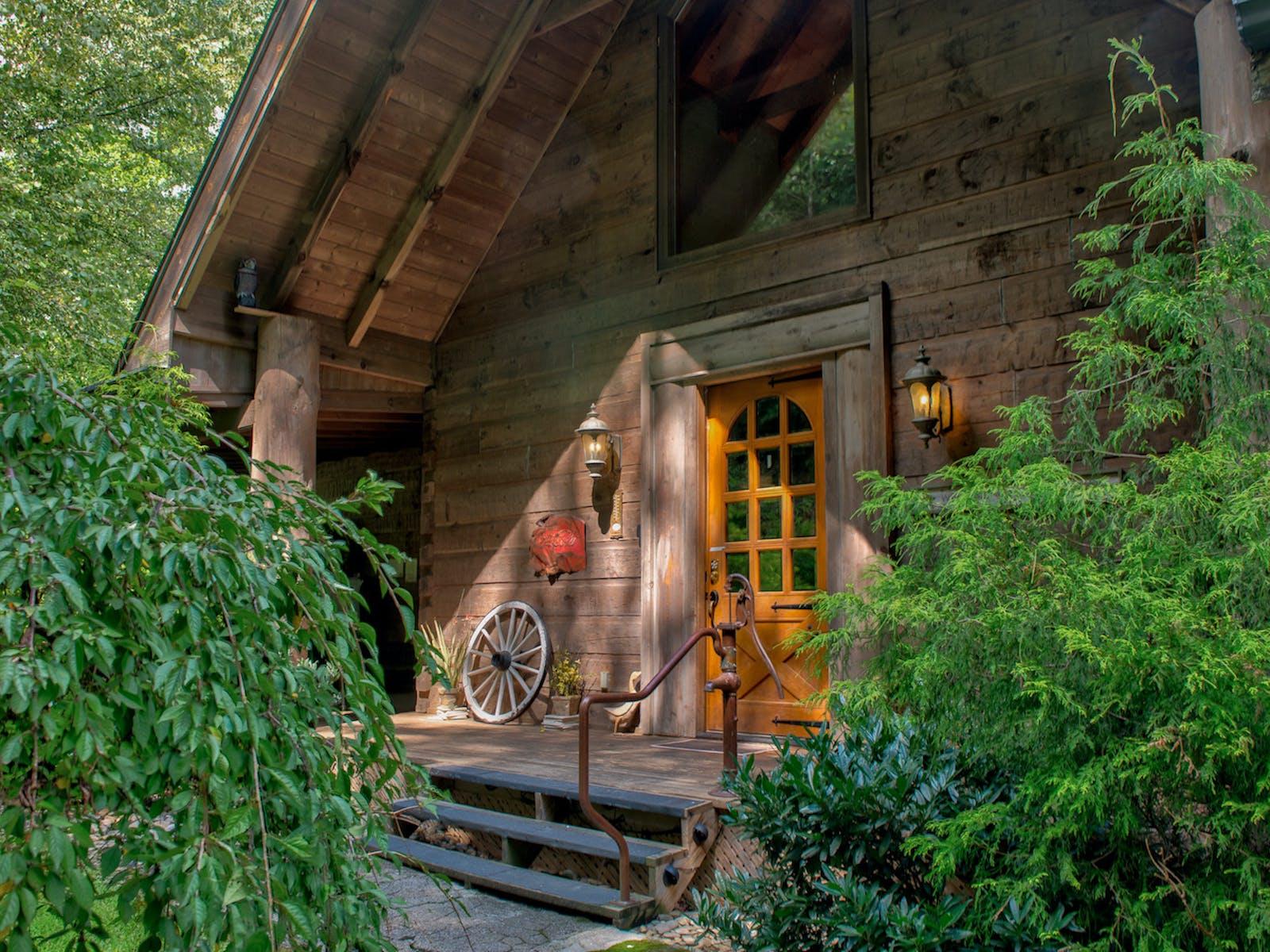 A pristine cabin in the woods
