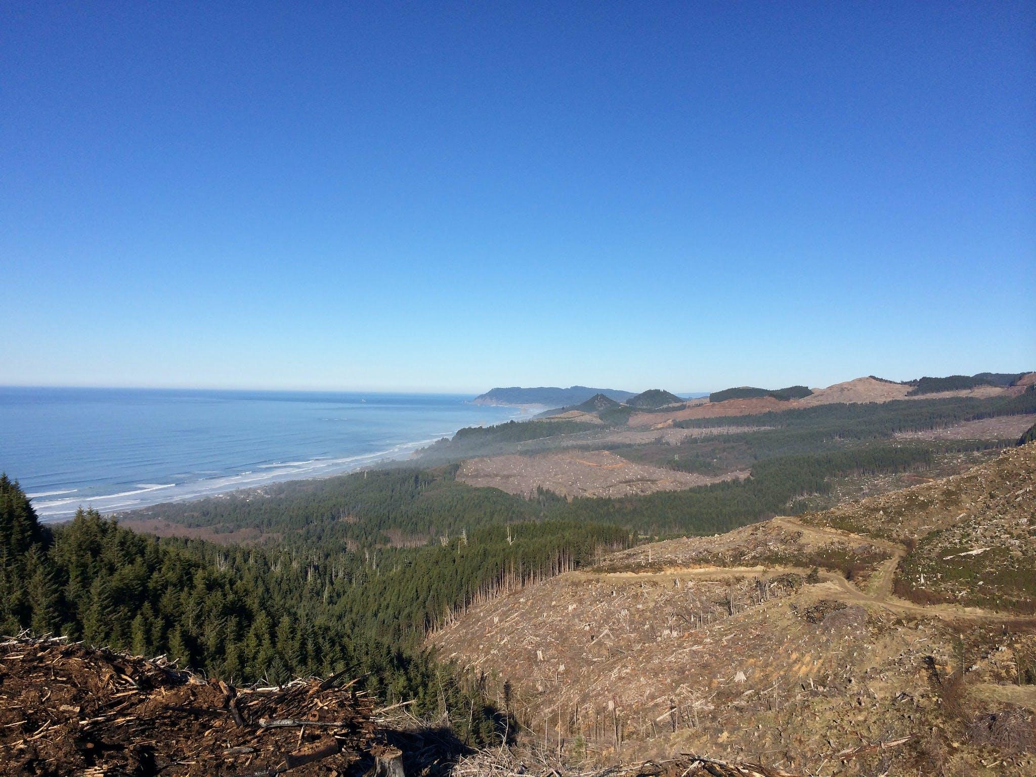 Angora Peak view above Arch Cape