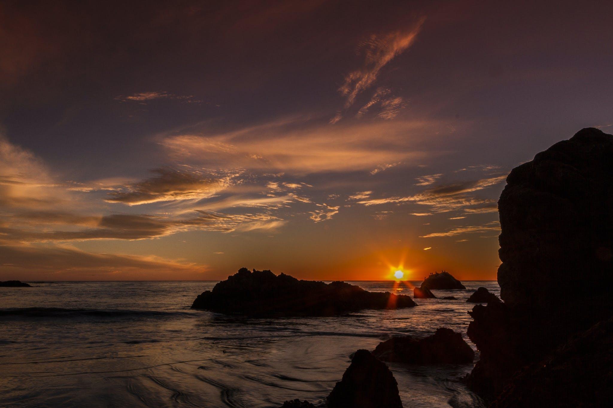 the sun setting at Estero Bluffs