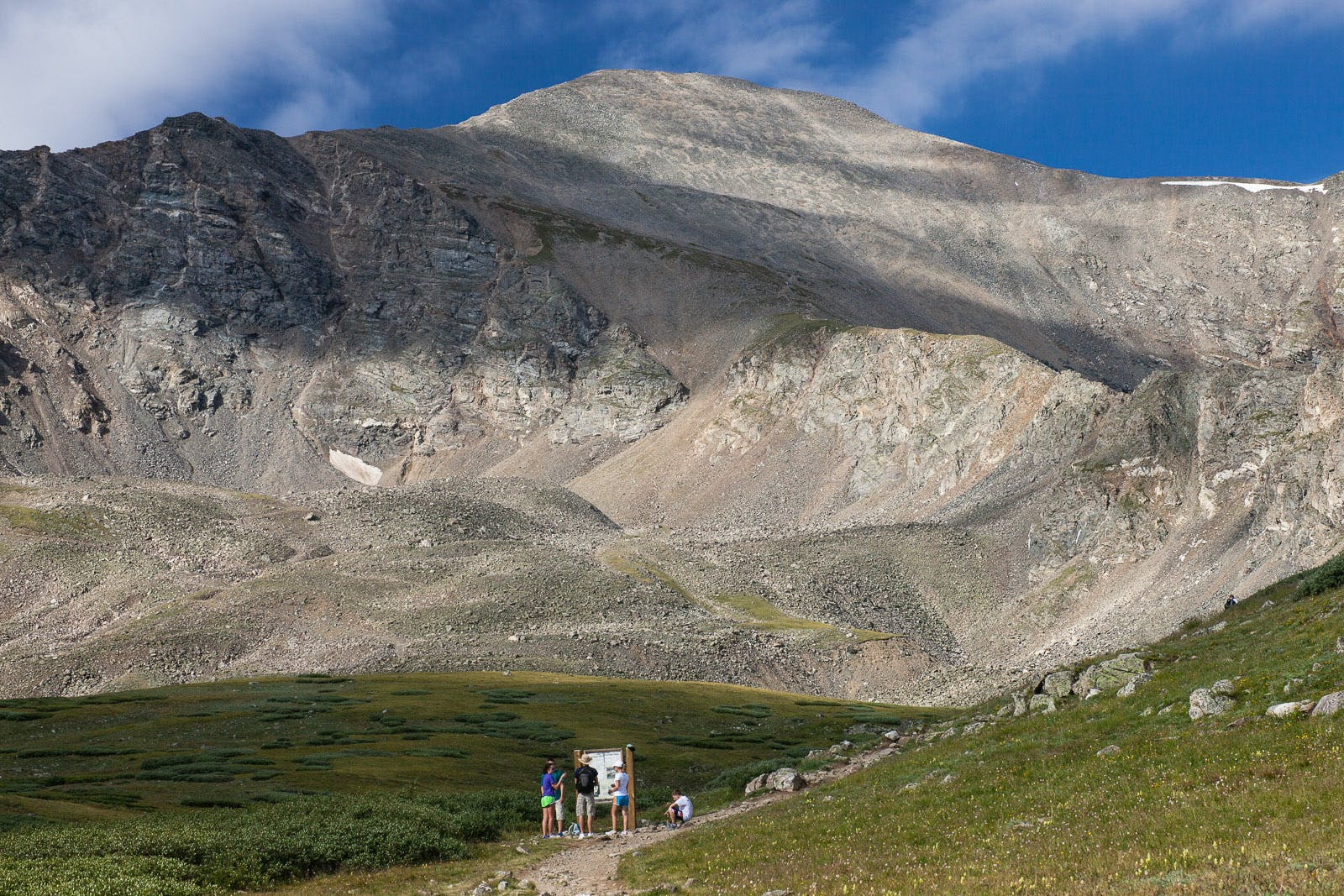 Hikers heading up to Grays Peak in Colorado