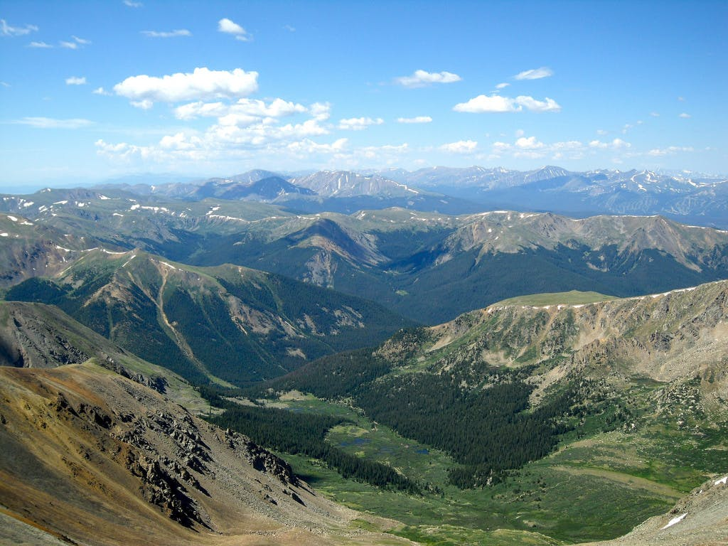 a view from the top of Torreys Peak
